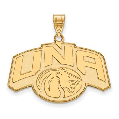 Picture of University of Northern Alabama Lions Sterling Silver Gold Plated Large Pendant