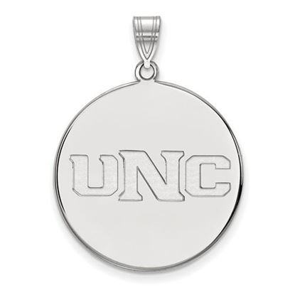 Picture of University of Northern Colorado Bears 10k White Gold Extra Large Disc Pendant
