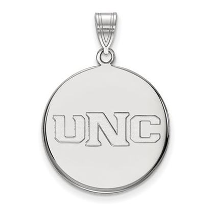 Picture of University of Northern Colorado Bears 14k White Gold Large Disc Pendant