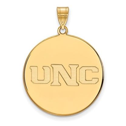 Picture of University of Northern Colorado Bears Sterling Silver Gold Plated Extra Large Disc Pendant