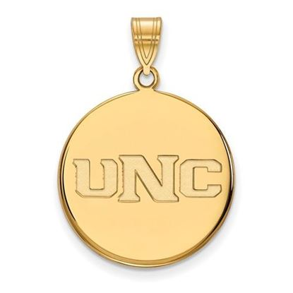 Picture of University of Northern Colorado Bears Sterling Silver Gold Plated Large Disc Pendant