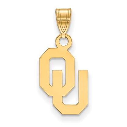 Picture of University of Oklahoma Sooners Sterling Silver Gold Plated Small Pendant