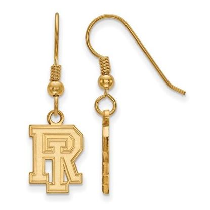 Picture of University of Rhode Island Rams Sterling Silver Gold Plated Small Dangle Earrings
