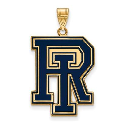 Picture of University of Rhode Island Rams Sterling Silver Gold Plated Extra Large Enameled Pendant