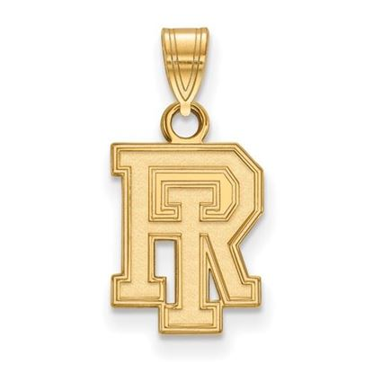 Picture of University of Rhode Island Rams Sterling Silver Gold Plated Small Pendant