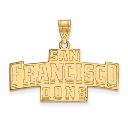 Picture of University of San Francisco Dons Sterling Silver Gold Plated Medium Pendant