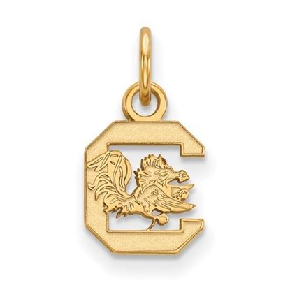 Picture of University of South Carolina Gamecocks Sterling Silver Gold Plated Extra Small Pendant