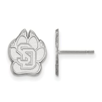 Picture of University of South Dakota Coyotes 10k White Gold Small Post Earrings
