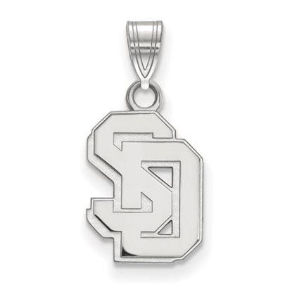 Picture of University of South Dakota Coyotes 10k White Gold Small Pendant