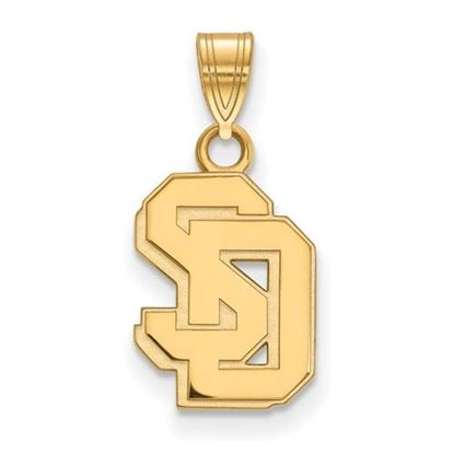 Picture of University of South Dakota Coyotes 14k Yellow Gold Small Pendant
