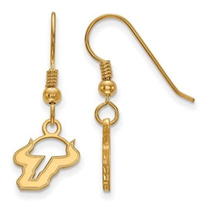 Picture of University of South Florida Bulls Sterling Silver Gold Plated Extra Small Dangle Earrings