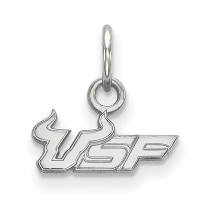 Picture of University of South Florida Bulls 10k White Gold Extra Small Pendant