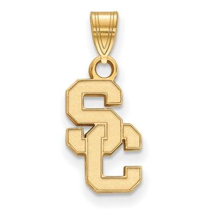 Picture of University of Southern California Trojans Sterling Silver Gold Plated Small Pendant