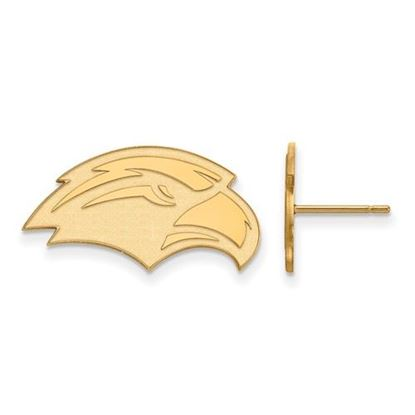 Picture of University of Southern Mississippi Golden Eagles 10k Yellow Gold Small Post Earrings