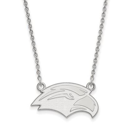 Picture of University of Southern Mississippi Golden Eagles 10k White Gold Small Necklace
