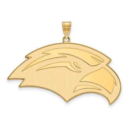 Picture of University of Southern Mississippi Golden Eagles Sterling Silver Gold Plated Extra Large Pendant