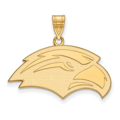 Picture of University of Southern Mississippi Golden Eagles Sterling Silver Gold Plated Medium Pendant
