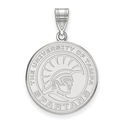 Picture of University of Tampa Spartans 10k White Gold Medium Pendant