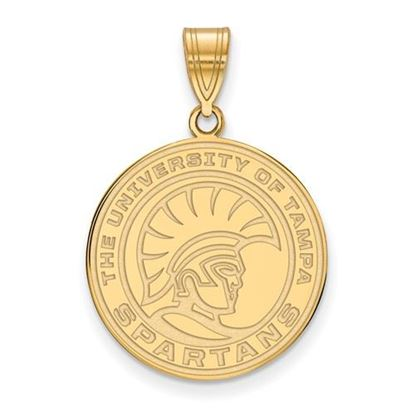 Picture of University of Tampa Spartans 10k Yellow Gold Medium Pendant