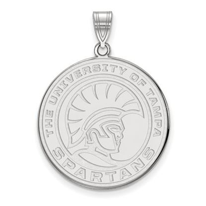 Picture of University of Tampa Spartans 14k White Gold Extra Large Pendant