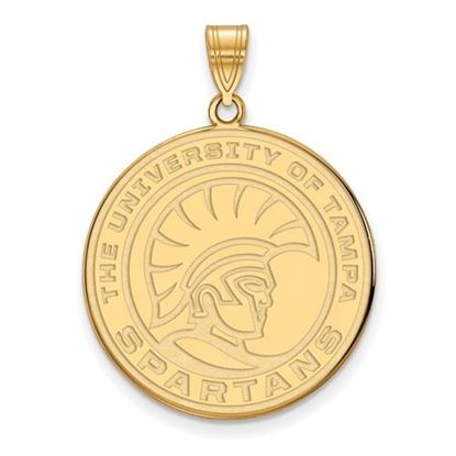 Picture of University of Tampa Spartans 14k Yellow Gold Extra Large Pendant