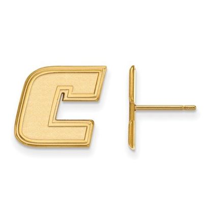 Picture of University of Tennessee at Chattanooga Mocs 10k Yellow Gold Small Post Earrings