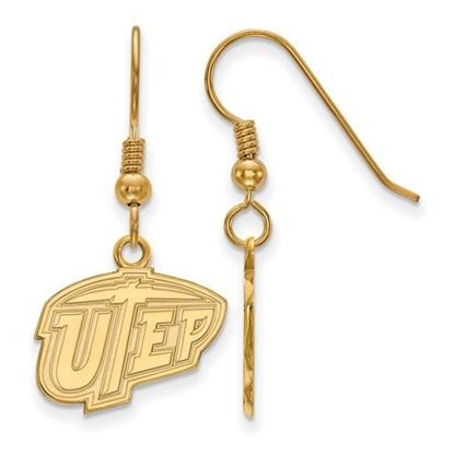 Picture of University of Texas at El Paso Miners Sterling Silver Gold Plated Small Dangle Earrings