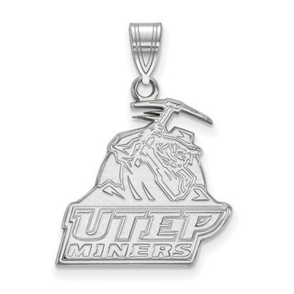 Picture of University of Texas at El Paso Miners 10k White Gold Large Pendant