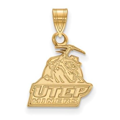 Picture of University of Texas at El Paso Miners Sterling Silver Gold Plated Small Pendant