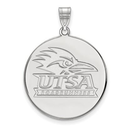 Picture of University of Texas at San Antonio Road Runners 10k White Gold Extra Large Disc Pendant