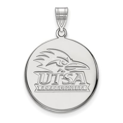 Picture of University of Texas at San Antonio Road Runners 10k White Gold Large Disc Pendant