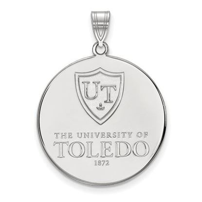 Picture of University of Toledo Rockets 14k White Gold Extra Large Disc Pendant