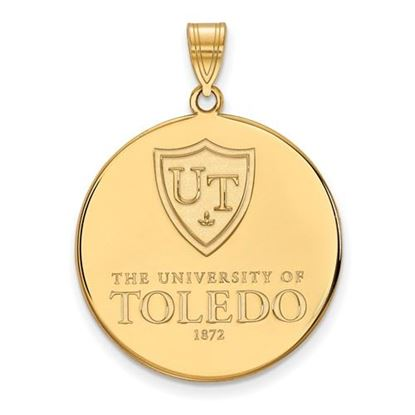 Picture of University of Toledo Rockets Sterling Silver Gold Plated Extra Large Disc Pendant
