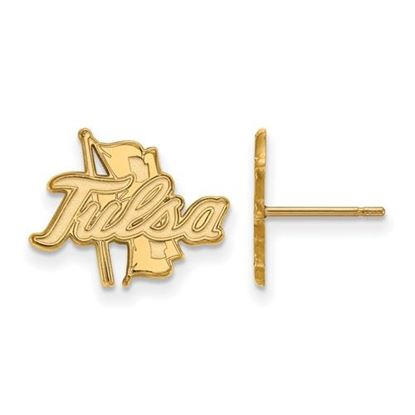 Picture of University of Tulsa Golden Hurricanes 10k Yellow Gold Small Post Earrings