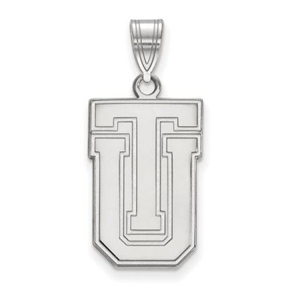 Picture of University of Tulsa Golden Hurricanes 10k White Gold Large Pendant