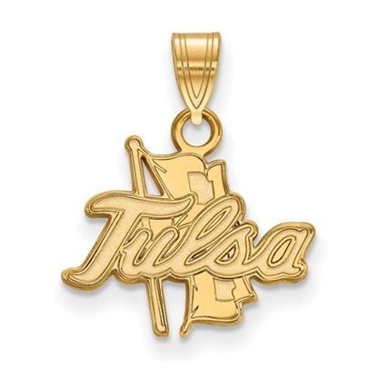 Picture of University of Tulsa Golden Hurricanes 14k Yellow Gold Small Pendant