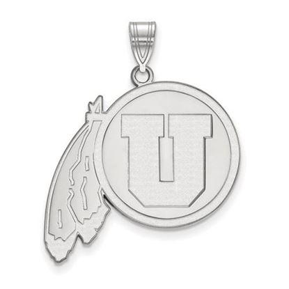 Picture of University of Utah Utes 14k White Gold Extra Large Pendant