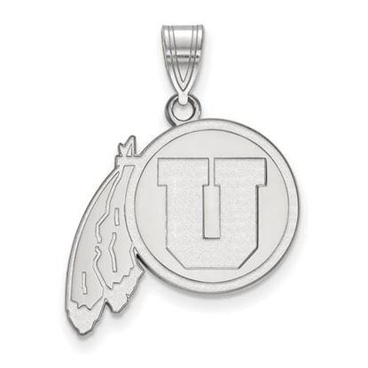 Picture of University of Utah Utes 14k White Gold Large Pendant