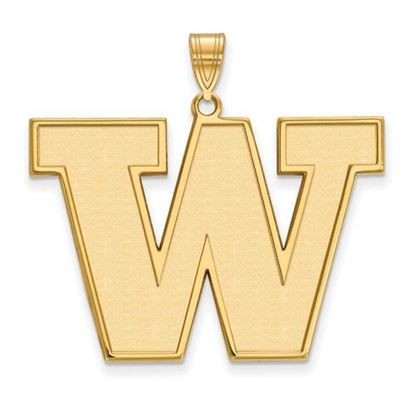 Picture of University of Washington Huskies Sterling Silver Gold Plated Extra Large Pendant