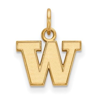 Picture of University of Washington Huskies Sterling Silver Gold Plated Extra Small Pendant