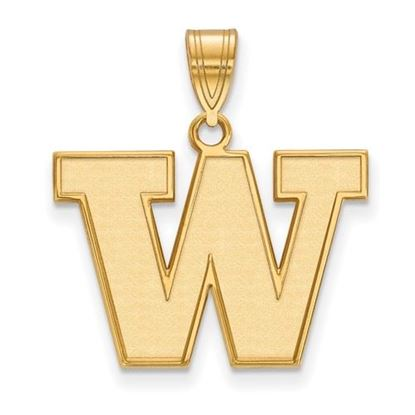 Picture of University of Washington Huskies Sterling Silver Gold Plated Medium Pendant