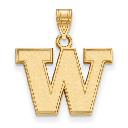 Picture of University of Washington Huskies Sterling Silver Gold Plated Small Pendant
