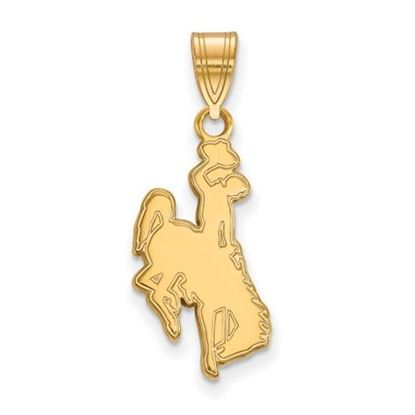 Picture of University of Wyoming Cowboys Sterling Silver Gold Plated Large Pendant