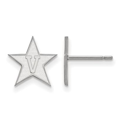 Picture of Vanderbilt University Commodores 10k White Gold Small Post Earrings