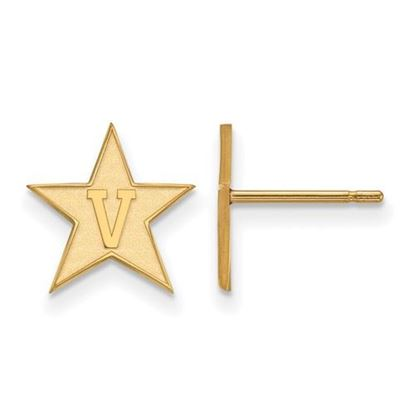 Picture of Vanderbilt University Commodores 14k Yellow Gold Small Post Earrings