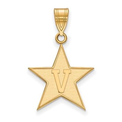 Picture of Vanderbilt University Commodores Sterling Silver Gold Plated Large Pendant