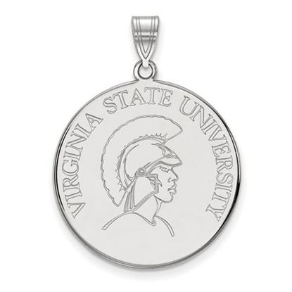 Picture of Virginia State University Trojans 10k White Gold Extra Large Disc Pendant
