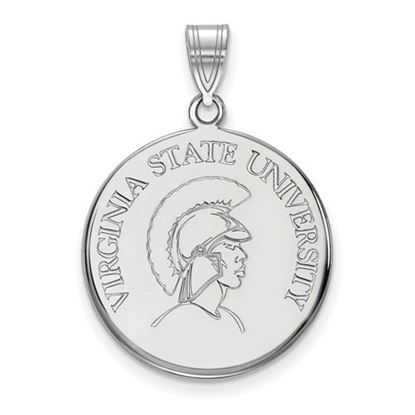 Picture of Virginia State University Trojans 10k White Gold Large Disc Pendant