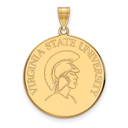 Picture of Virginia State University Trojans Sterling Silver Gold Plated Extra Large Disc Pendant