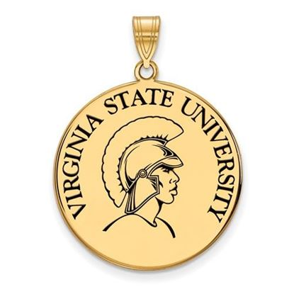 Picture of Virginia State University Trojans Sterling Silver Gold Plated Extra Large Enameled Disc Pendant